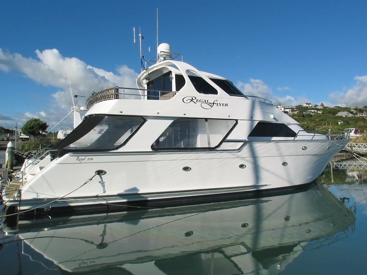 Regal flyer charter boat and business for sale 100 for Outboard motors for sale nz